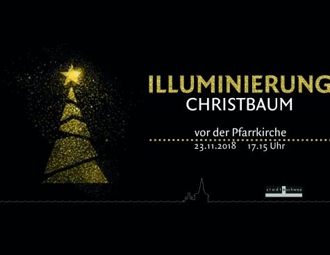 Illuminierung Schwazer Christbaum